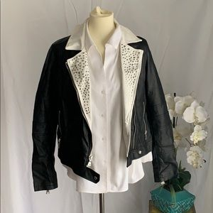 Express Black leather jackets